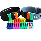 MDW 7pcs Mixed Colored Silicon Fastener Ring for Fitbit Charge/force, Protect the Band From Falling Off and Fix the Clasp Loose Problem,never Worry About Losing Your Loved Fitbit Charge
