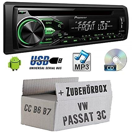 VW Passat 3C CC B6B7-Pioneer deh1800ubg-Kit de montage autoradio CD/MP3/USB -