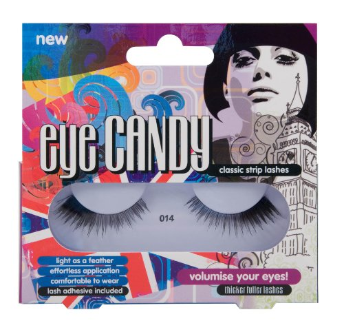 Eye Candy Strip Lashes 014 Volumise 60's Look Natural False Lashes