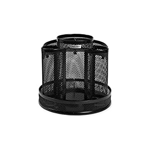 Rolodex Mesh Collection Spinning Desk Sorter, Black (1773083)