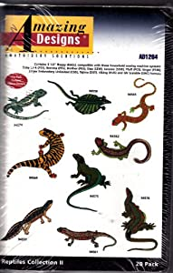 Amazing Designs Reptiles Collection 2 Machine Embroidery Designs AD1264 by Amazing Designs