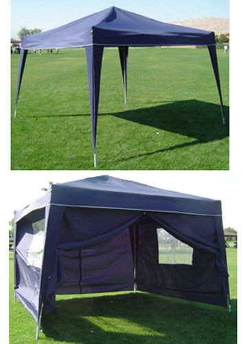 10 x 10 BLUE Palm Springs EZ Pop Up Canopy w Walls