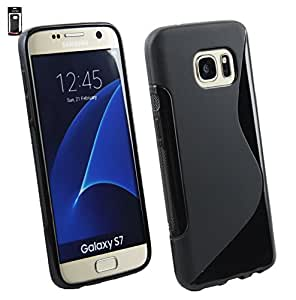 Emartbuy® Ultra Slim Gel Skin Case Cover Black For Samsung Galaxy S7