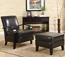 Big Sale Coaster 900242 Bentwood Accent Chair with Ottoman, Dark Brown