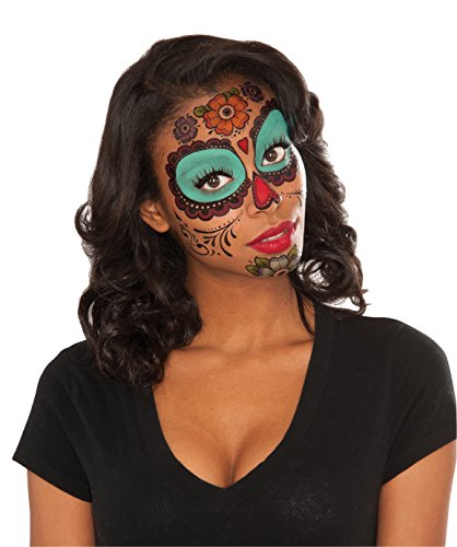 Rubie's Costume Co Women's Floral Day Of The Dead Face Tattoo