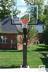 Collegiate Pro Jam Basketball System with Acrylic Backboard (Glass) by Gared