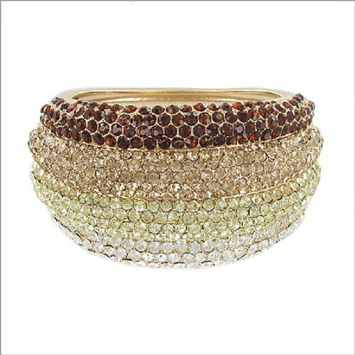 Designer Inspired Stone Hinged Bracelet #038620