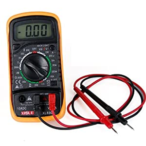 LCD Digital Ohm VOLT Meter AC DC Voltmeter Multimeter - - Amazon.com