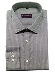 Blacksmith Men's Formal Shirt_1968096031BLSHIRTHB3_Pirate Grey_40