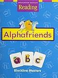 Houghton Mifflin Reading: The Nation's Choice: Alphafriends Blackline Masters Grade K