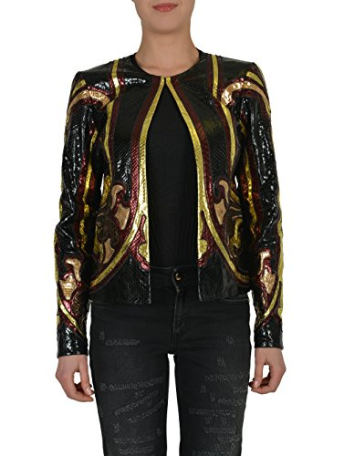 Gucci 100% Real Python Multi-Color Buttonless Women's Basic Jacket US S IT 40