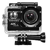 ICONNTECHS IT 4KウルトラHD防水スポーツカメラ、170°の広角レンズ、フルHD1080Pソニーセンサを持っていて、WiFiもHDMIも使用できるカメラ、ダイビング自転車やエクストリームスポーツ無料のヘルメットアクセサリー (黒)