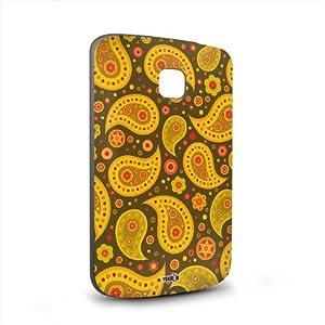 Handyschale Handycase für LG Optimus L1 2 veredelt mit YOUNiiK Styling Skin - Paisley grün