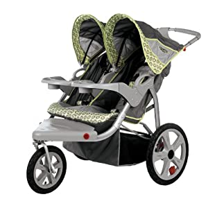 InStep Safari Swivel Wheel Double Jogger