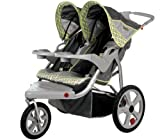 InStep Safari Swivel Wheel Double Jogger, Gray/Green