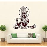 Hoopoe Decor Lord Krishna With Flute Wall Stickers And Decals - B011GSGTW2