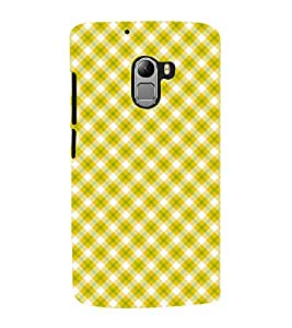 Fuson Premium Back Case Cover Sea green P atterned Striped With blue Background Degined For Lenovo K4 Note
