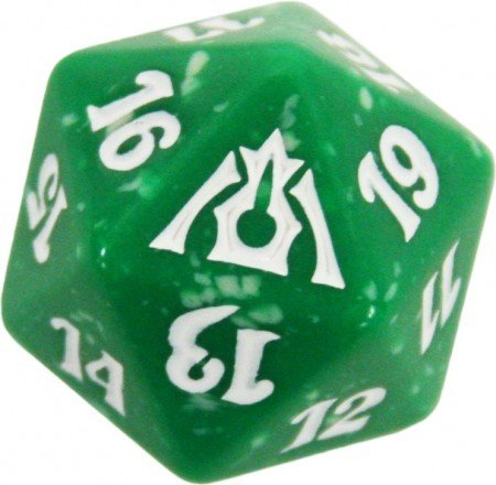 MTG Spindown D20 Life Counter - Dragon's Maze Selesnya