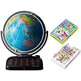 【Amazon.co.jp限定】 しゃべる地球儀 パーフェクトグローブI トランプ2種同梱セット