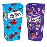 Cadbury Roses & Heroes Twin Pack