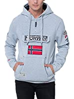 GEOGRAPHICAL NORWAY Sudadera con Capucha Gymclass (Gris Claro)