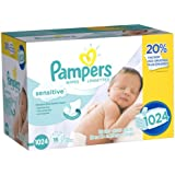 Pampers Sensitive Baby Wipes, 1024 Count