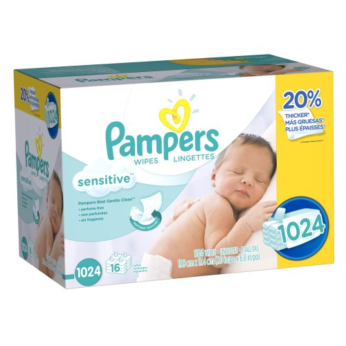 Cheap Pampers Baby Wipes, Sensitive, 1024 Count