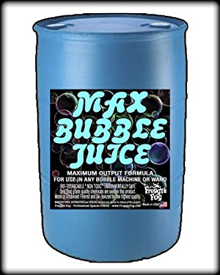 55 Gal - MAX Bubble Juice Fluid - 10x the Bubbles from Standard Machines from Froggys Fog