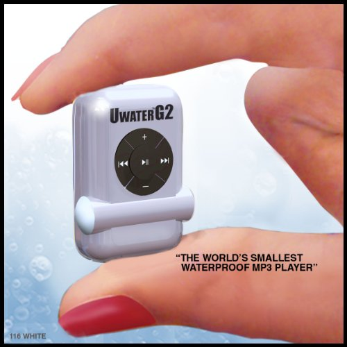 UWaterG2 &#8211; &#8220;The Smallest 100% Waterproof MP3&#8243;-Ice White