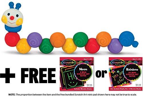 K's Kids Build an Inchworm Stacking Toy + FREE Melissa & Doug Scratch Art Mini-Pad Bundle [91794]