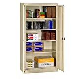 """Tennsco Storage Cabinet With Recessed Handle - 36""""Wx18""""Dx72""""H - All Welded - Sand - Sand"""