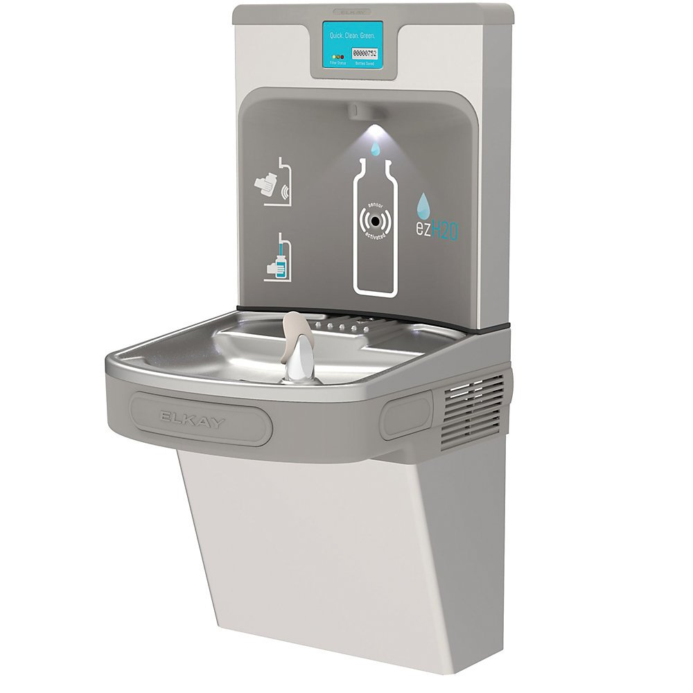 Elkay Ezh2o Next Generation Drinking Fountain With Bottle Filling Station - Stainless Steel - Stainless Steel
