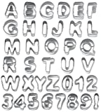 51SC2 duQvL. SL160  Wilton Fondant Alphabet Number Cookie Cutter Cut Outs, Set of 37