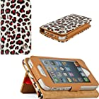VanGoddy Mary Self Stand Case Cover for Apple iPod Touch 5 Generation and Apple iPhone 5 / 5S / 5C Generation (Leopard)