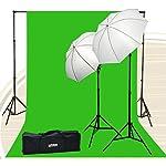 Chromakey Green Screen Kit 800 watt 10×20 Ft Chroma Key Green Screen Photo Video Lighting Kit Backdrop Support System Included Ul15 10×20 Green By Fancierstudio U15 10×20 Green