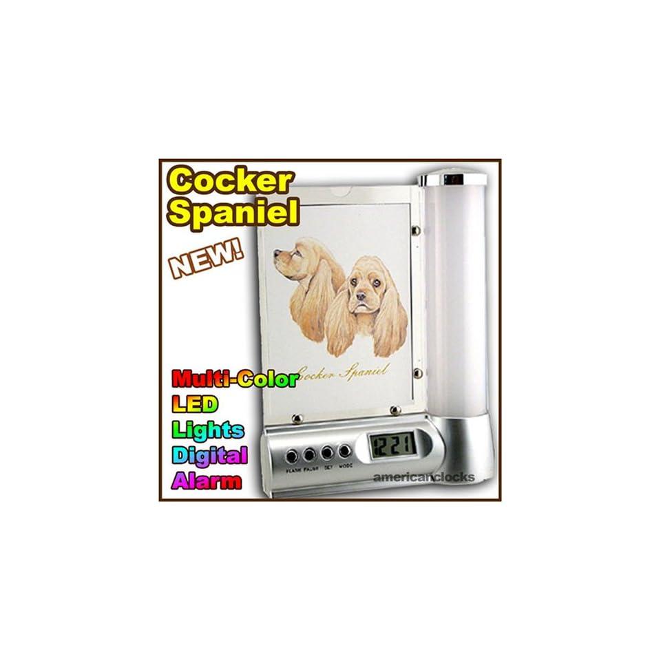 DOGS Cocker Spaniel LED Digital Dog Alarm Clock Light