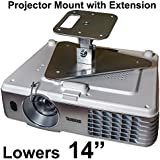 Projector-Gear Projector Ceiling Mount For PANASONIC PT-AR100 U With Extension Lowers 14