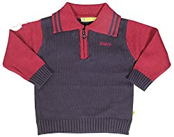 Buzzy Baby Boys 1-2 Years Cotton Cardigan (Navy Blue)