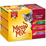 Meow Mix Tender Favorites Poultry and Beef Variety Pack Wet Cat Food, 2.75 Ounces, 24-Count