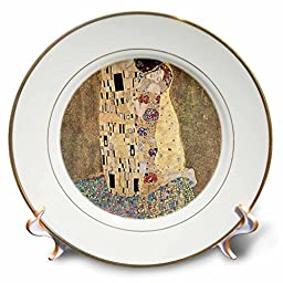 3dRose cp_45030_1 Famous Klimt Painting the Kiss Porcelain Plate, 8\