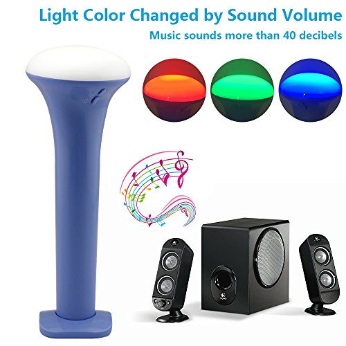 LP LED Flashlight , Multi-function Color Changeable By Sound Control Rechargeable By Usb Cable , for Concert , House Party , Outdoor Camping Trip ,