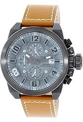 Invicta 18993 Men's Corduba Edge Grey Dial Brown Leather Strap Chronograph Watch