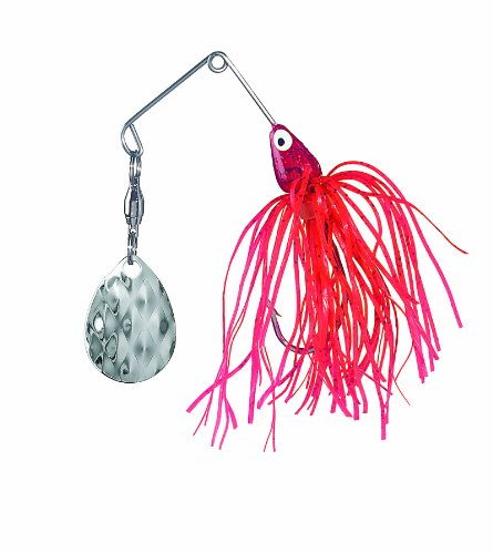 Strike King Lure Company Strike King Mini-King Spinnerbait - Single Colorado Diamond Blade (Red Shad Head Red Shad Skirt, 0.125-Ounce)