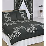 Double Duvet Cover Set With 2 Pillowcases Charcoalby Matching Bedroom Sets