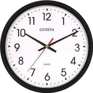 buy 14 blk plstc quartz wall clock geneva online at low