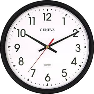 Buy 14 blk plstc quartz wall clock geneva online at low for Timex wall clocks india