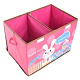 Foldable Storage Box Bunny Patch With Partition