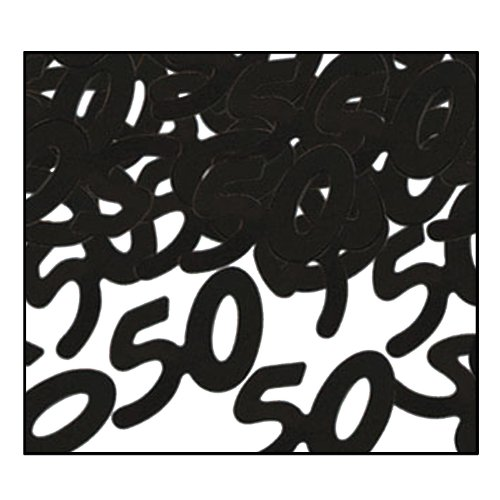 Fanci-Fetti 50 Silhouettes, Party Accessory, Black, 1/2 Ounce Per Package