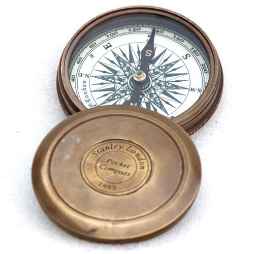 Vintage Style Maritime Collectible Compass Brass Finish 0