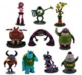 Lot of 10 Pcs Disney Monsters Inc. Figure 1.5-4 Play Set Toys Cake Topper